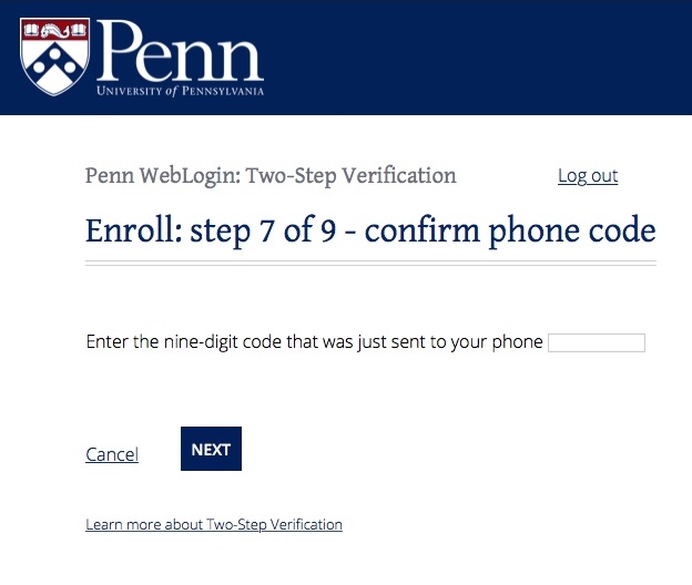 Two-Step Verification: detailed instructions | UPenn ISC