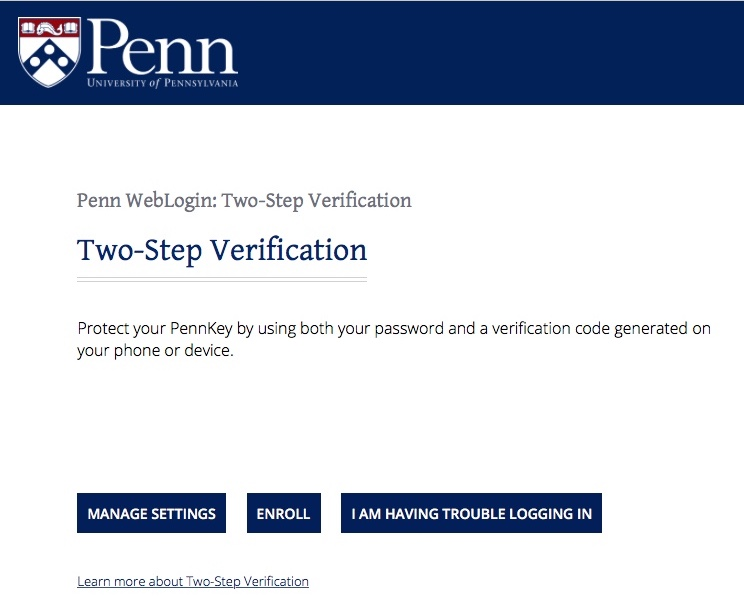 Two Step Verification Detailed Instructions