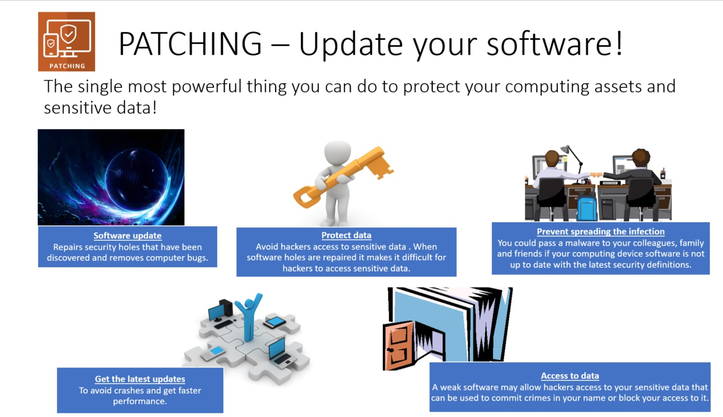 Parching is the single most powerful thing you can do to protect your computing assets and sensitive data
