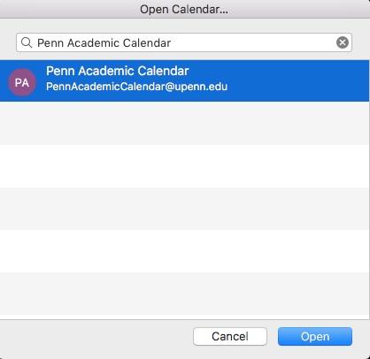 Academic Calendar Upenn.Adding The Penn Academic Calendar To Penno365 Upenn Isc