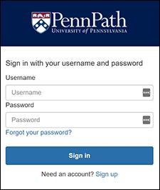 PennPath login screen