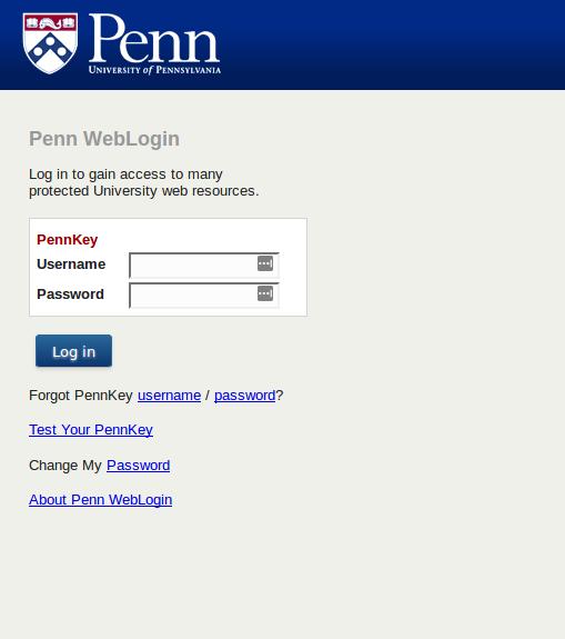 New Weblogin interface